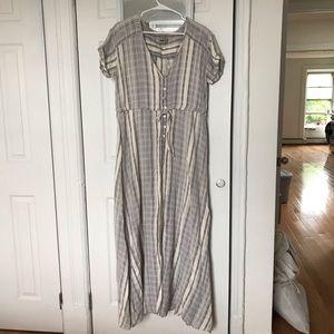 ASOS Stripe Maxi Dress in Natural Fibre